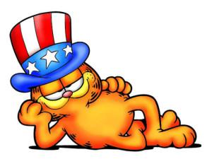 Garfield con sombrero