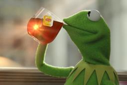 Kermit toma té